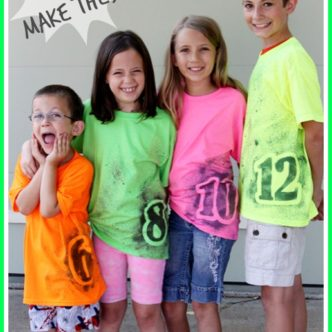 cl4 neon-number-tee-simple-diy-make-your-own