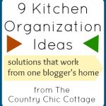 Kitchen Organization Ideas -- ideas for every area in your kitchen -- stay organized and neat!