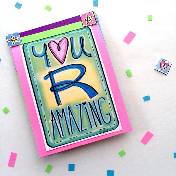 Mini book of love notes designed by Jen Goode