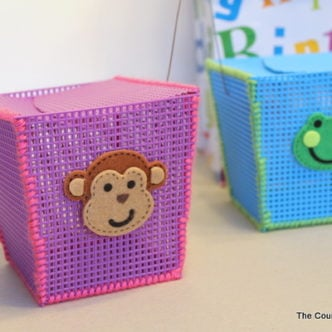 Plastic Canvas Storage Boxes