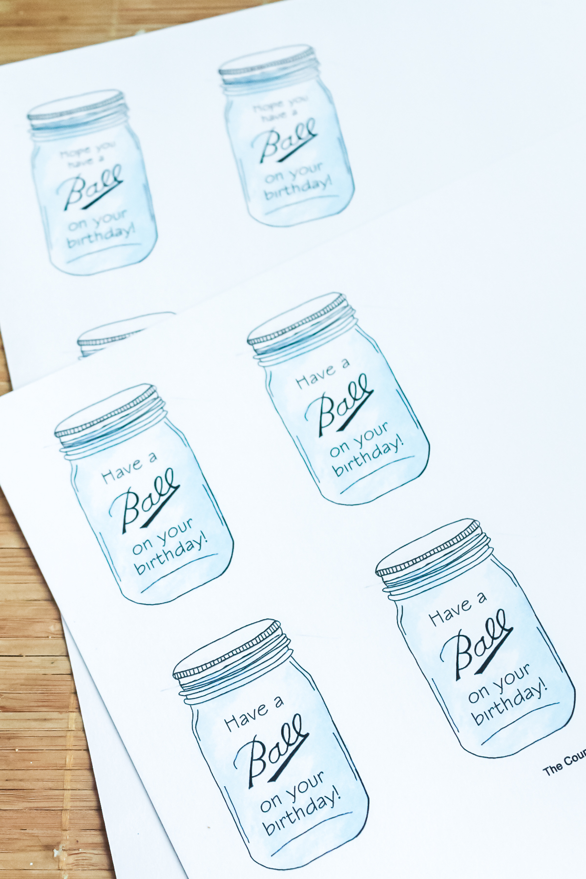 birthday gift tags printed on white cardstock