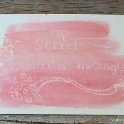 secret watercolor message