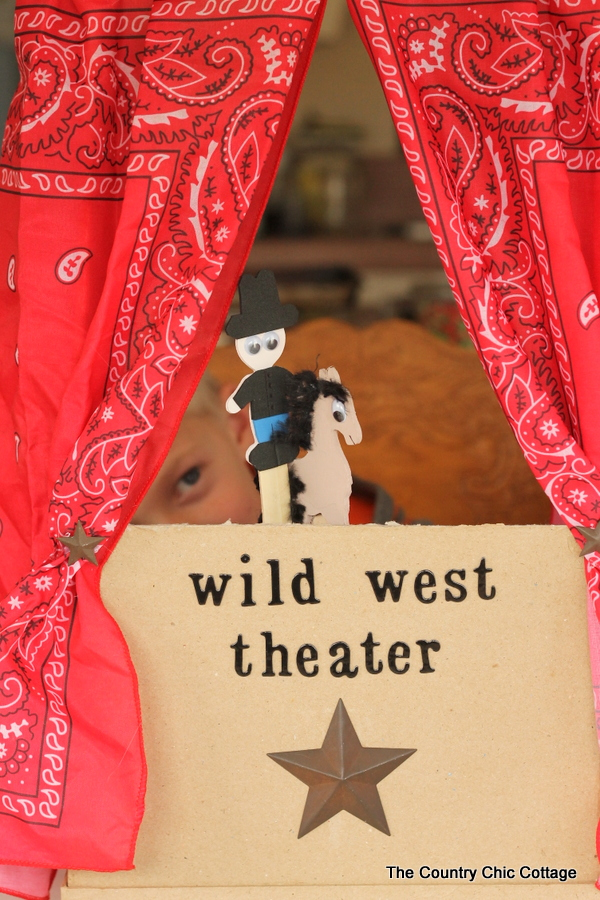 Wild West Puppet Theater for Kids -- make a wild west theater for your kids with these instructions!