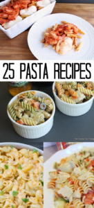 These 25 pasta recipes are the perfect way to fill your menu for the week! You will find new dishes to add to your rotation and maybe some new twists on your favorites! #pasta #recipes #yum #foodie