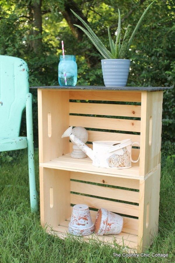 Crate Side Tables Four Ways    Four Ways To Use Crates To Create Side Tables
