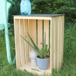 Crate Side Tables Four Ways -- four ways to use crates to create side tables indoors or out!