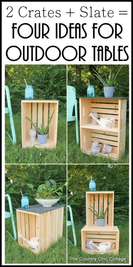 Crate Tables Four Ways The Country Chic Cottage