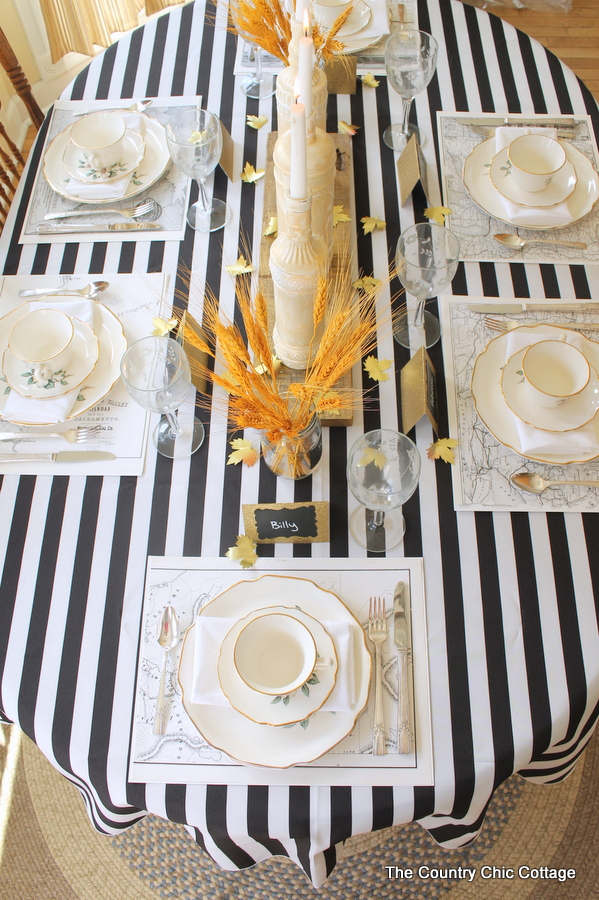 Wonderful Fall Tablescape Ideas - The Country Chic Cottage TU09