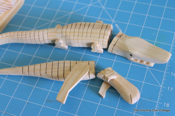 Faux Animal Head Trophies -- a craft tutorial on making your own whimsical animal heads from wood toys.