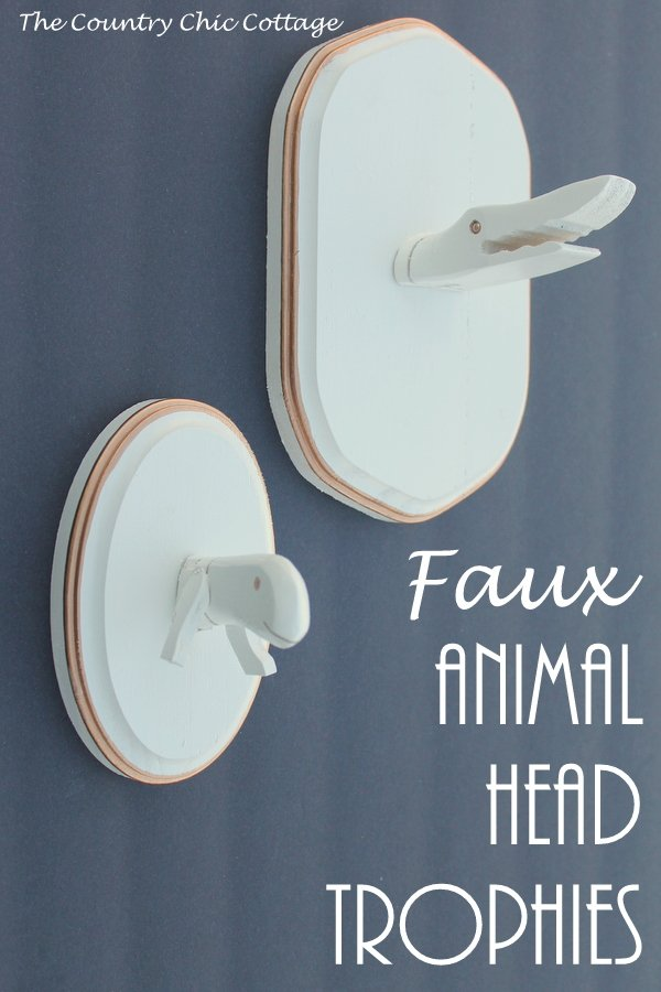 faux animal head trophies a craft tutorial on making your own whimsical animal heads