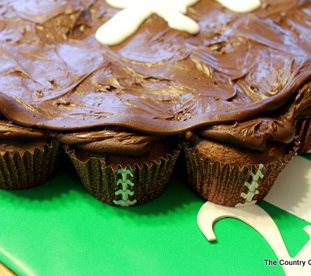 Football Cupcakes and Wrapping Presents for a Football Party -- great ideas for a football or birthday party.