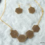 Geometric Lace Jewelry from Shrink Plastic! An elegant necklace and earrings that can easily be made at home with shrink plastic!