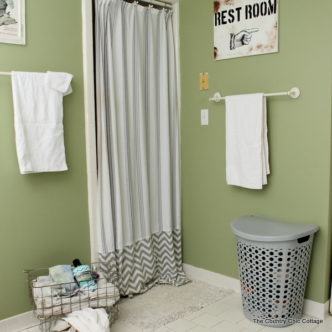Make an Extra Long Shower Curtain