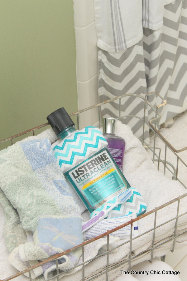 How to Make an Extra Long Shower Curtain -- add length to your shower curtain so it goes all the way from floor to ceiling.  A great project to fix those curtains that are too short.