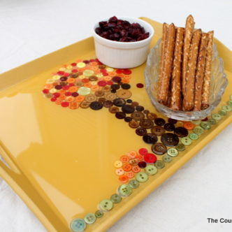 Make a Fall Tray with Buttons