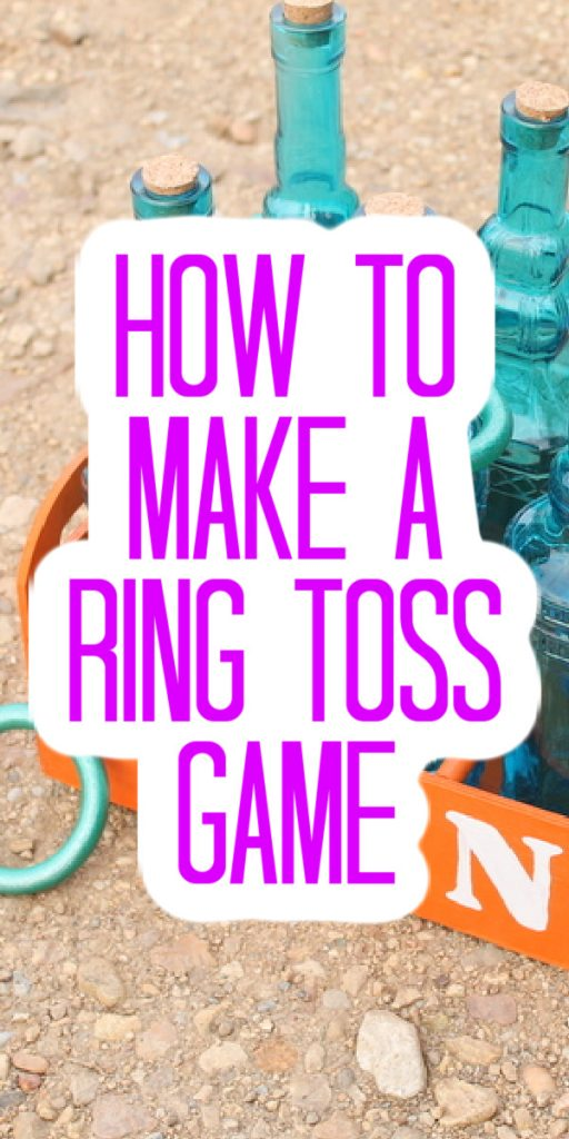 Make your own ring toss game with this super easy craft tutorial! A fun game that adults and kids will enjoy in any season. #ringtosss #game #kidsgame