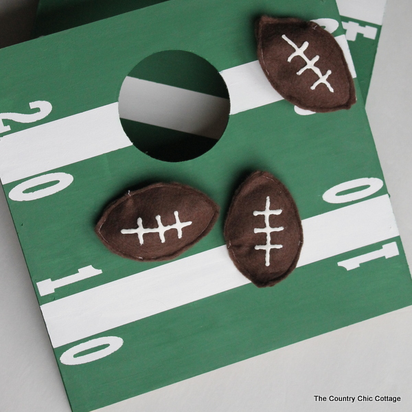 Mini Football Cornhole - The Country Chic Cottage