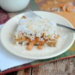 Pumpkin Magic Bars Recipe -- pumpkin with butterscotch and more! Super easy recipe!