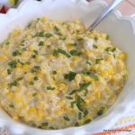 Slow Cooker Cream Corn -- spicy with a touch of jalapeno! Add this to your recipe collection today.