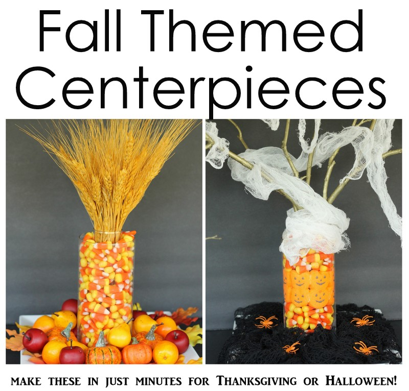 Pleasant Fall Themed Centerpieces The Country Chic Cottage Download Free Architecture Designs Rallybritishbridgeorg
