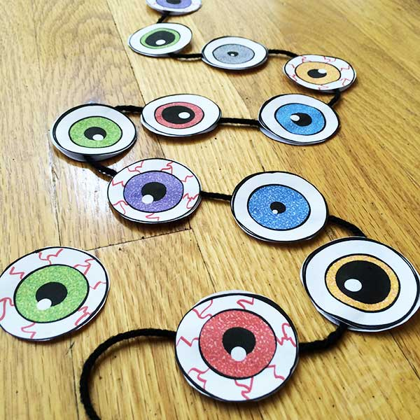 Make eyeball garland