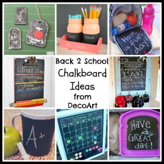 Back to School Chalkboard Ideas -- use chalkboard for back 2 school projects like these!