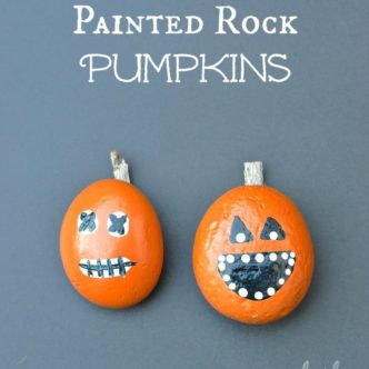 Easy Halloween Crafts -- crafts that can be made in 15 minutes or less!