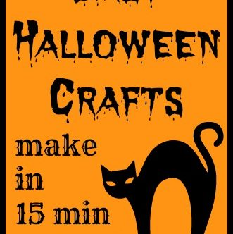 Easy Halloween Crafts -- tons of ideas for easy Halloween crafts that anyone can make!
