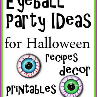 Eyeball Party Ideas for Halloween -- great ideas for your Halloween bash!
