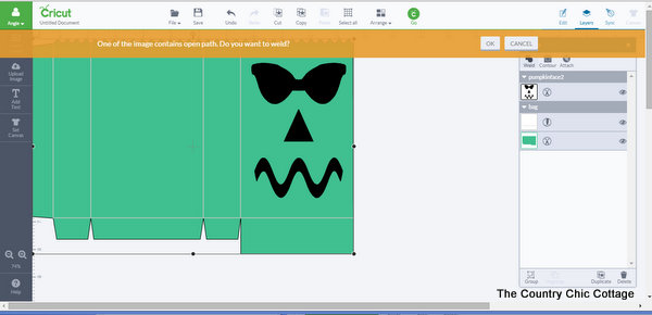 halloween luminary bags cricut pattern