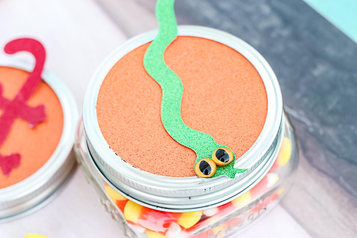 snake mason jar