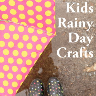 Kids Rainy Day Crafts -- tons of ideas to do with your kids on rainy or cold days.
