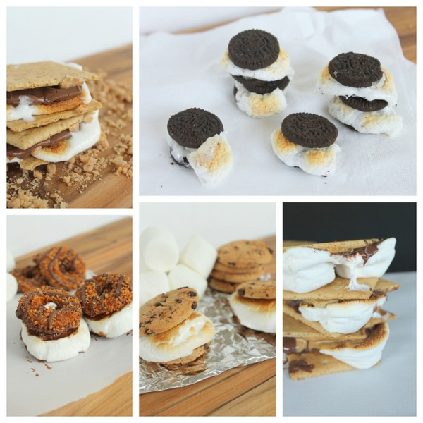 S'mores 5 Ways -- five fun ways to enjoy s'mores outdoors or even inside!