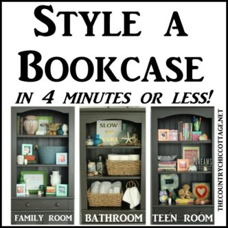 Style a Bookcase in 4 Minutes or Less!