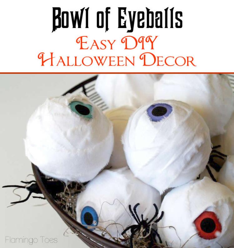 eyeball halloween decor