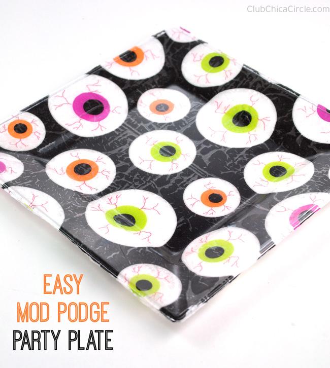 eyeball party plate