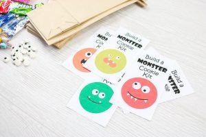 monster cookie kit printable tags