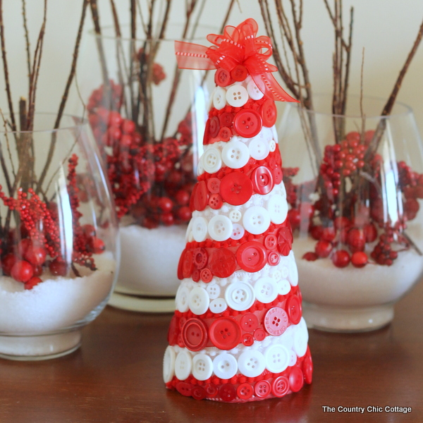 Button Christmas Trees: The Country Chic Cottage