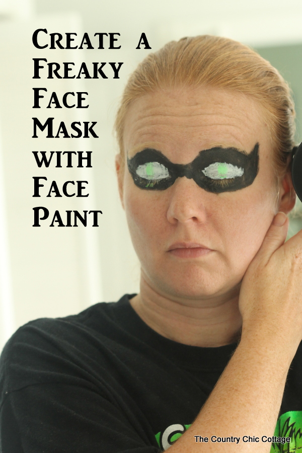 Create a freaky face mask with just face paint and this video tutorial!