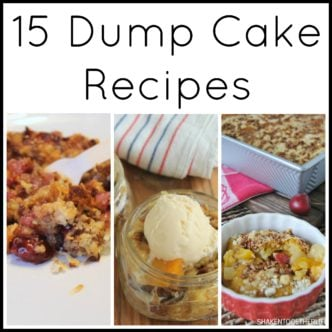 15 Dump Cake Recipes -- if you love easy dessert ideas this post is for you!