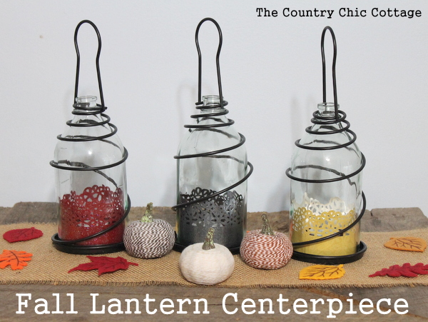 Fall lantern centerpiece the country chic cottage