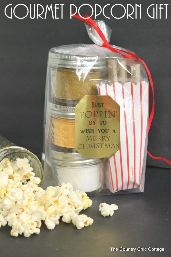 Gourmet Popcorn Gift in a Jar - The Country Chic Cottage