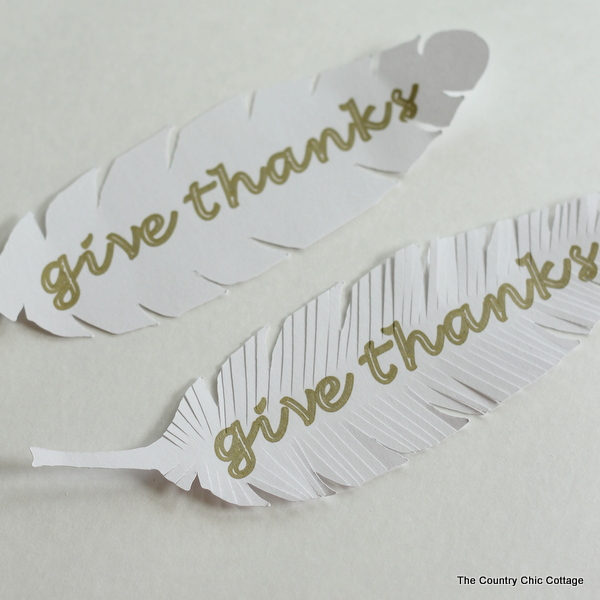 Learn how to make paper feathers here!  Love these!