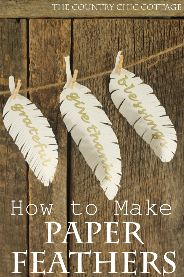 how to make paper feathers the country chic cottage. Black Bedroom Furniture Sets. Home Design Ideas