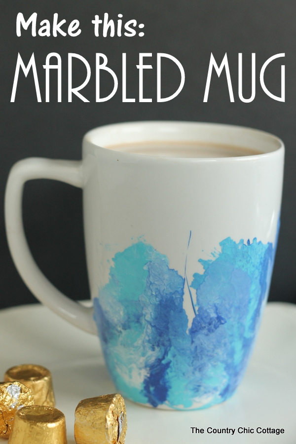 Mug painting idea - how to make a DIY marbled mug