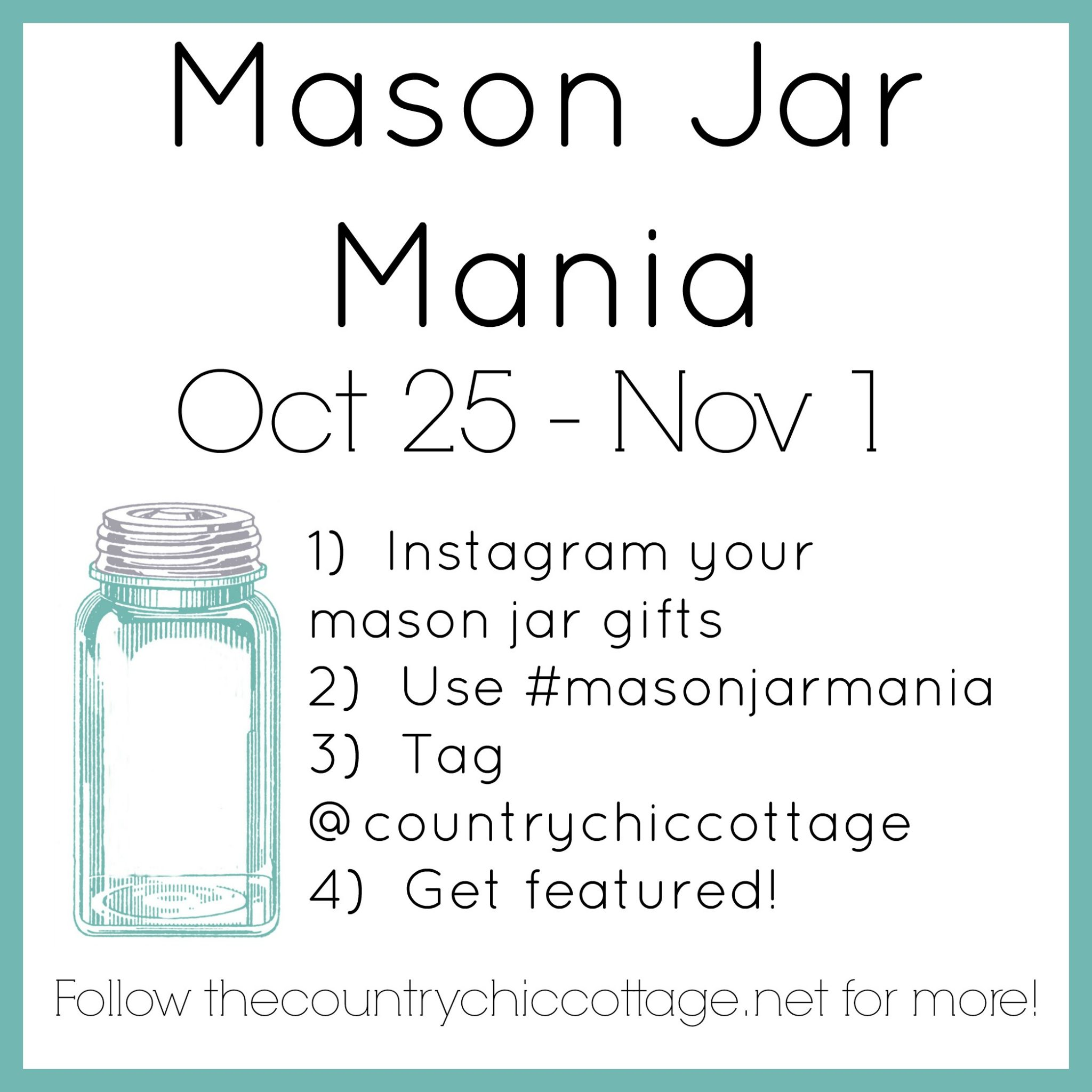 Join in Mason Jar Mania for tons of great mason jar gift ideas!