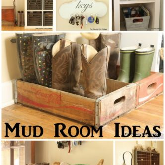 Farmhouse Style Mud Room Organization and Ideas