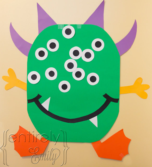 pin the eye on the monster halloween game
