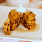 Pumpkin Chocolate Chip Pancakes Recipe -- a mouthwatering recipe perfect for fall!