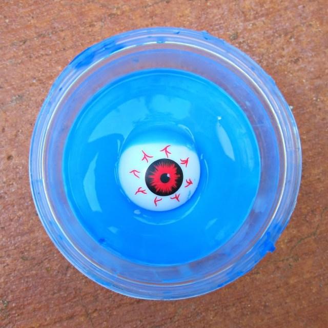 homemade slime with an eyeball
